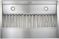 36   Brushed Stainless Steel Hood Liner Insert - C