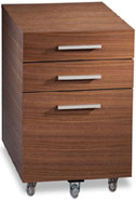 Sequel Series Walnut Low Mobile File Pedestal - SE