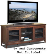 Walnut 62   Wide Hi-Boy Credenza Tv Stand - TCL622