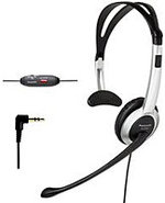 Hands-Free White Headset - KX-TCA430
