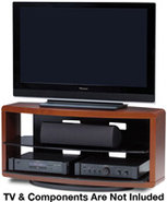 Valera Series 9724 Cherry 3-Shelf TV Stand - VALER