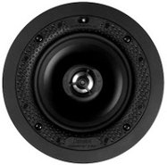 White Disappearing 5.5   In Ceiling Loudspeaker -