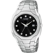 Eco-Drive Bracelet Stainless Steel Diamond Men - B