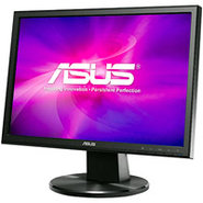 Asus 19   Black LED Computer Monitor - VW199T-P
