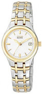 Eco-Drive Silhouette Sport Two Tone Womens Watch -