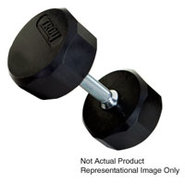 45lb 12 Sided Rubber Encased Dumbbell - TSD-045R