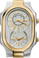 Signature Large Two Tone Yellow Gold Case - 2TG-MW