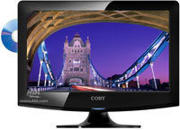 15   Black LED HDTV With Built-In DVD Player - LED