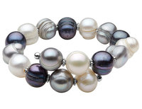 Multicolor Freshwater Pearl 10-12mm Bracelet in St