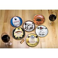 Wine Country Appetizer Plates (Set of 6)