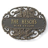 Personalized Bronze Wine Cellar Plaque