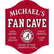 Alabama Crimson Tide Fan Cave Sign