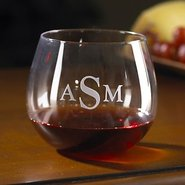 Monogrammed Wine Enthusiast U Pinot Noir Stemless 
