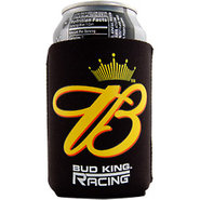 Budweiser Racing Black Beer Can Koozie