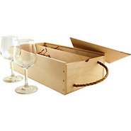 Wine Box Gift Set with Wine Glasses &amp; Tools