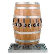 Wood Barrel Draft Beer Kegerator Tower with Matchi