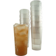 Pebbled Clear Plastic Tumblers - 16 oz - Set of 12