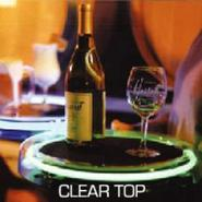 Neon Clear Acrylic Round Serving Tray - Disposable