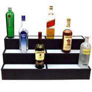 3 Tier Lighted Liquor Bottle Display Shelf