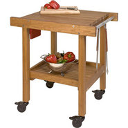 JK Adams Solid Cherry BBQ Cart