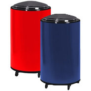 Rolling Patio Cooler & Ice Barrel