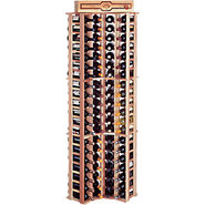 Traditional Redwood Curved Corner Wine Rack - Hold