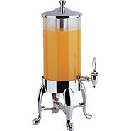 Deluxe Juice Dispenser with Chrome Legs