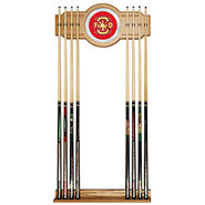 Fire Fighter Billiards Wooden Pool Cue Rack