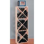 Country Pine Solid Diamond Wine Cube Rack - Holds