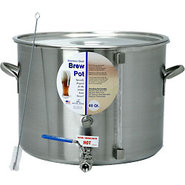 Stainless Steel Homebrew Pot with Ball Valve and S