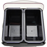 San Jamar Mini Dome Bar Garnish Tray - 2 Compartme