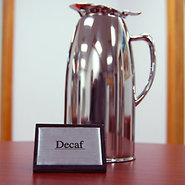 Decaf Tabletop Wood Block Sign