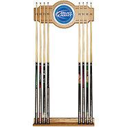 Bud Light Billiards Wooden Pool Cue Rack