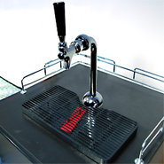 Single Tap Chrome Axis Draft Beer Kegerator Tower