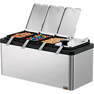 Insulated Mini Bar Garnish & Topping Station with