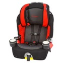 Unite BB830 2 in 1 Booster Car Seat Black & Red Fo