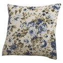 Jersey Pillow Slipcover - Floral Blue