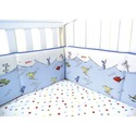 Dr Seuss One Fish Two Fish Baby Crib Bumpers Blue