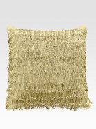 Modern Classics Beaded Fringe Decorative Pillow