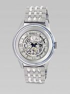 Automatic Stainless Steel and Glass Watch