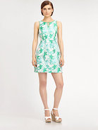Leaf Jaquard Dress