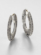 Sterling Silver Disc Hoop Earrings
