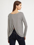 Andie Striped Jersey Tee