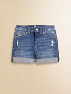 Girl&#39;s Distressed Denim Shorts