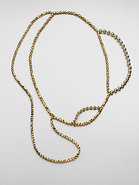 Metallic Layered Bead Necklace