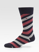 Diagonal Stripe Socks