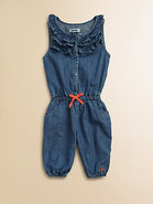 Toddler's & Little Girl's Denim Romper