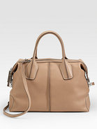 Styling Medium Bauletto Leather Satchel