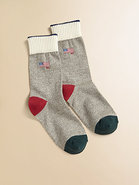 Boy's Monkey Flag Crew Socks