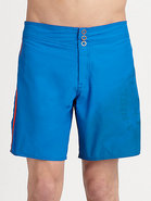 Cotton-Blend Swim Shorts